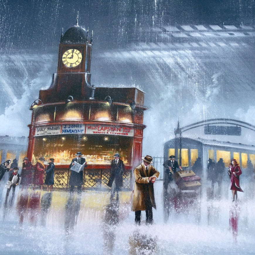 Waiting for You by Jeff Rowland, Nostalgic | Train | Transport | Couple | Love | Romance