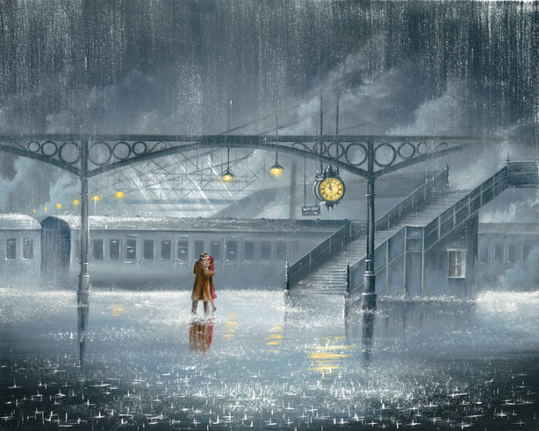 Hold me Once More by Jeff Rowland, Couple | Love | Romance | Train | Transport
