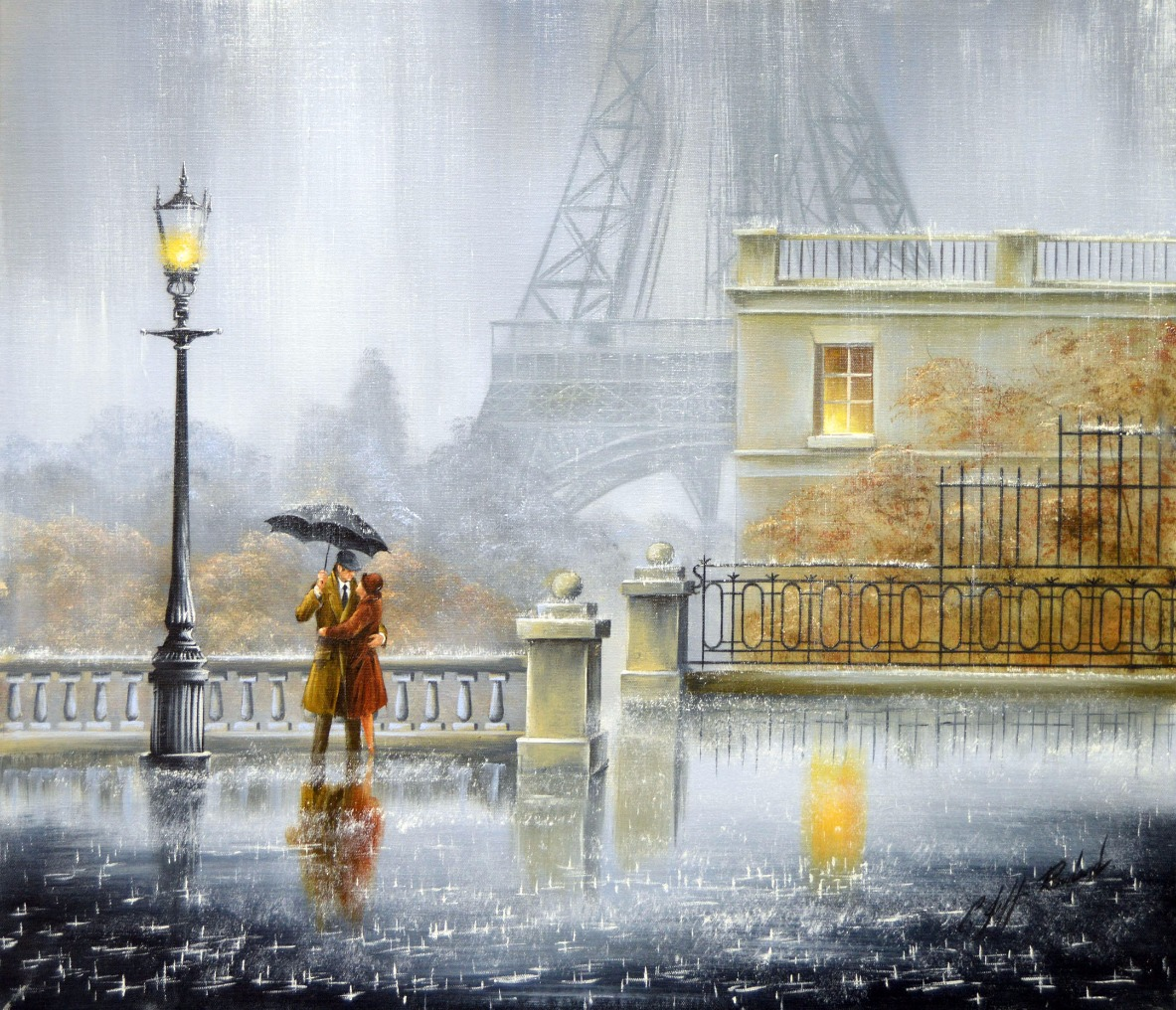 We will always have Paris by Jeff Rowland, Figurative | Love | Couple | Romance