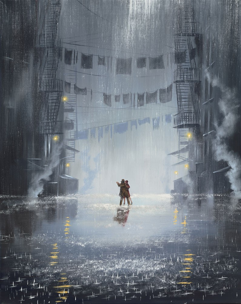 Dance between the Raindrops by Jeff Rowland, Dance | Love | Romance | Couple | Figurative