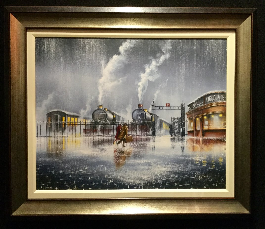 We're Almost there by Jeff Rowland, Train | Transport | Figurative | Romance | Love | Nostalgic | Rare