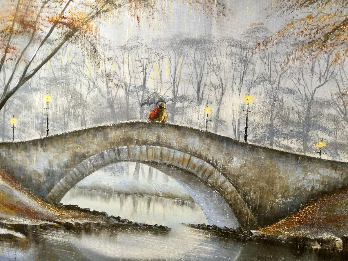 Meet me on the Bridge by Jeff Rowland, Couple | Romance | Love | Water | New York