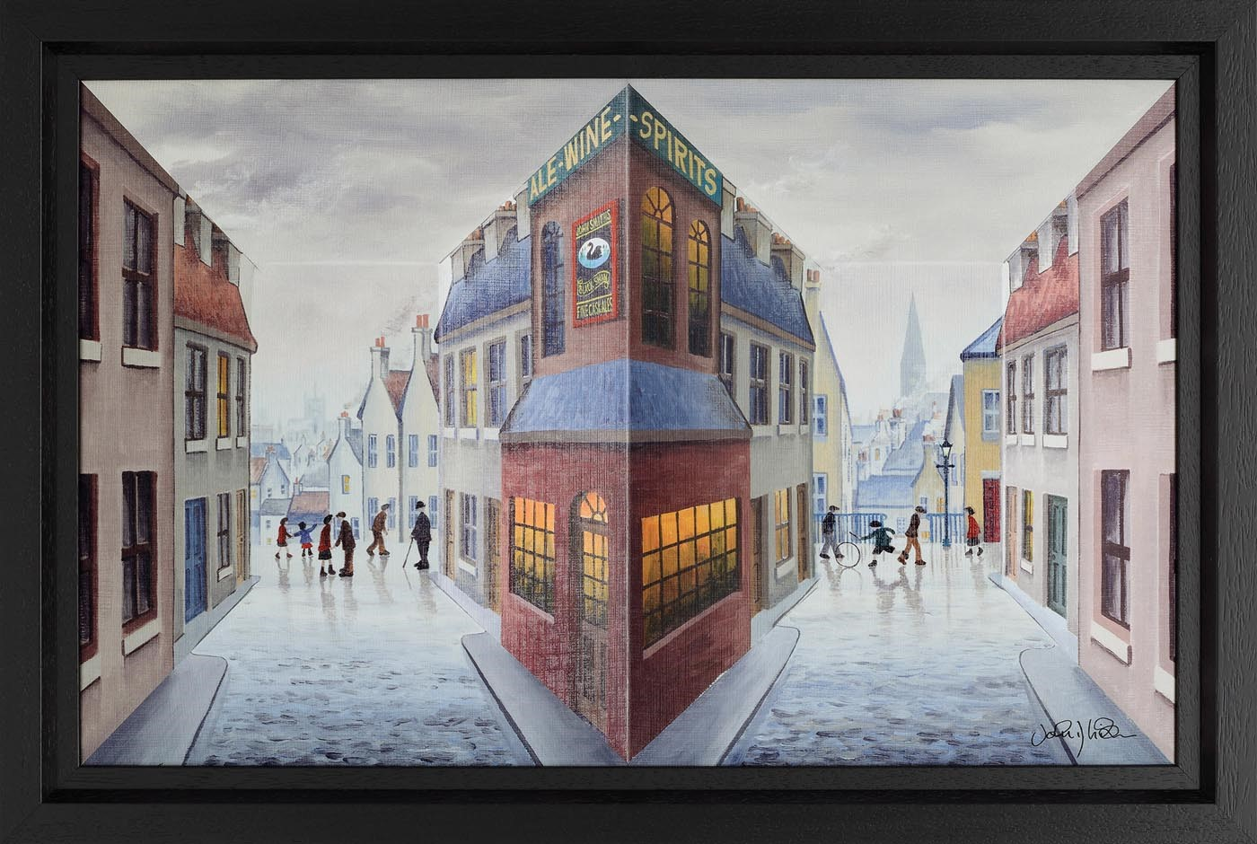 The Meeting Place by John D Wilson, Northern | 3D | Lowry | Rare