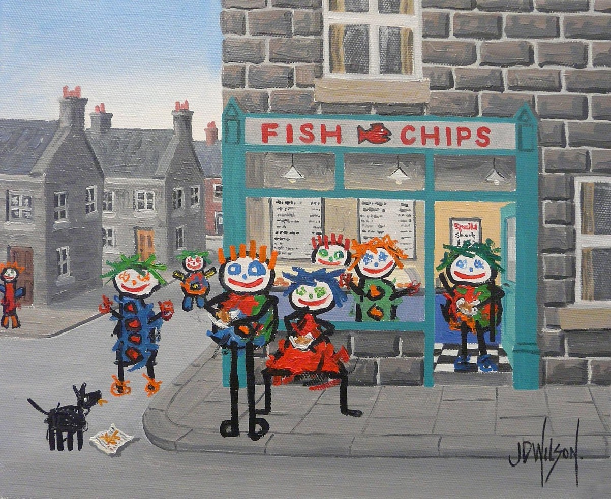 The Fish and Chip Shop by John D Wilson, Family | Nostalgic | Children | Dog