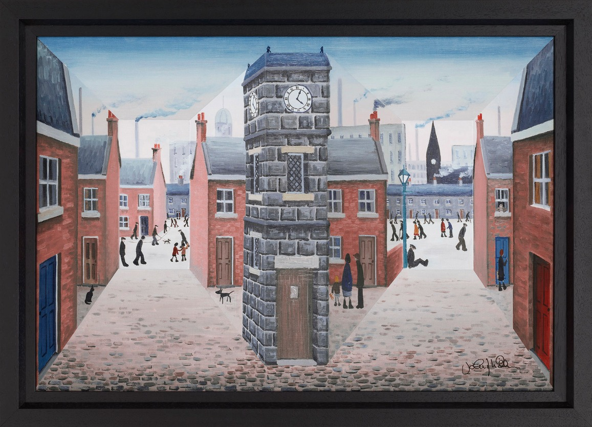 All around the Clock Tower by John D Wilson, Northern | Nostalgic | Lowry