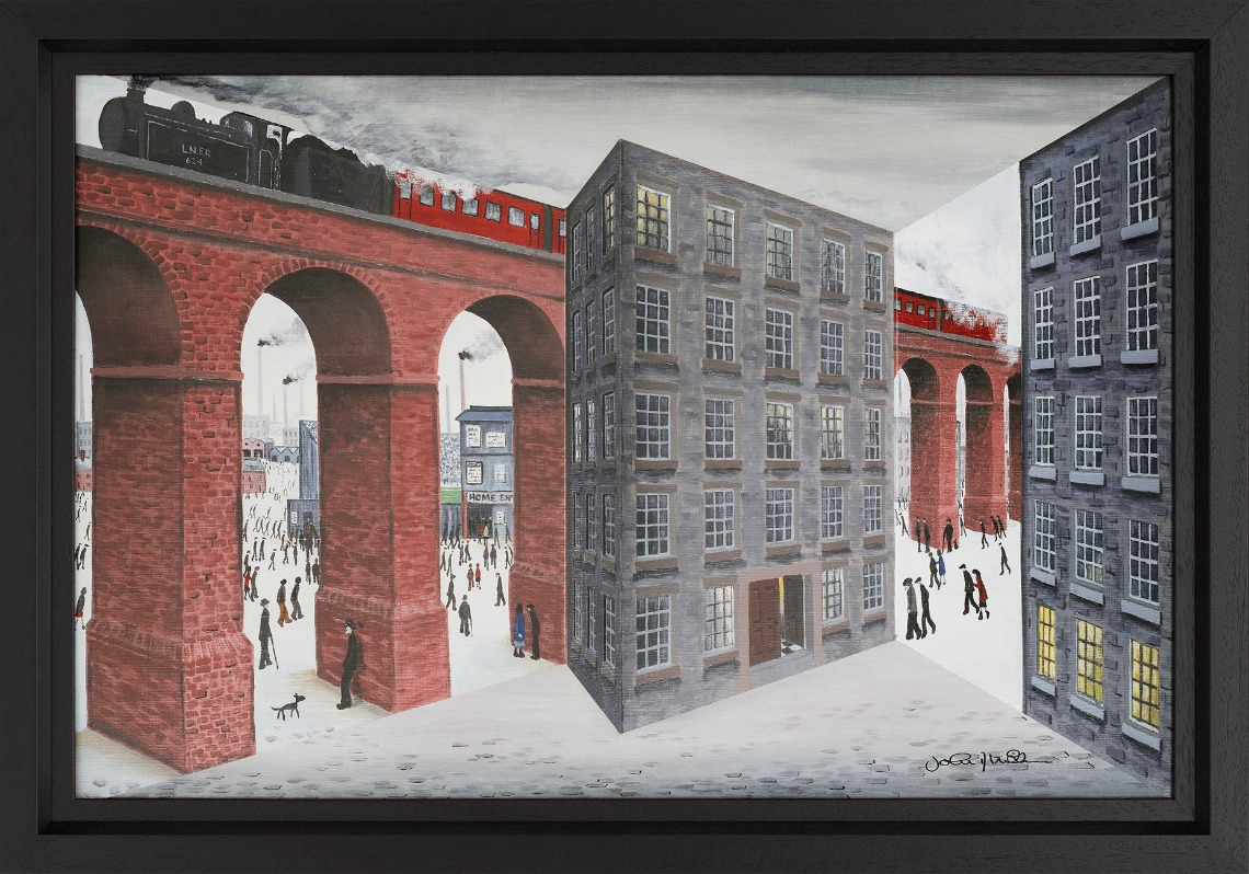 Steam up by John D Wilson, 3D | Lowry | Train | Transport | Northern | Nostalgic
