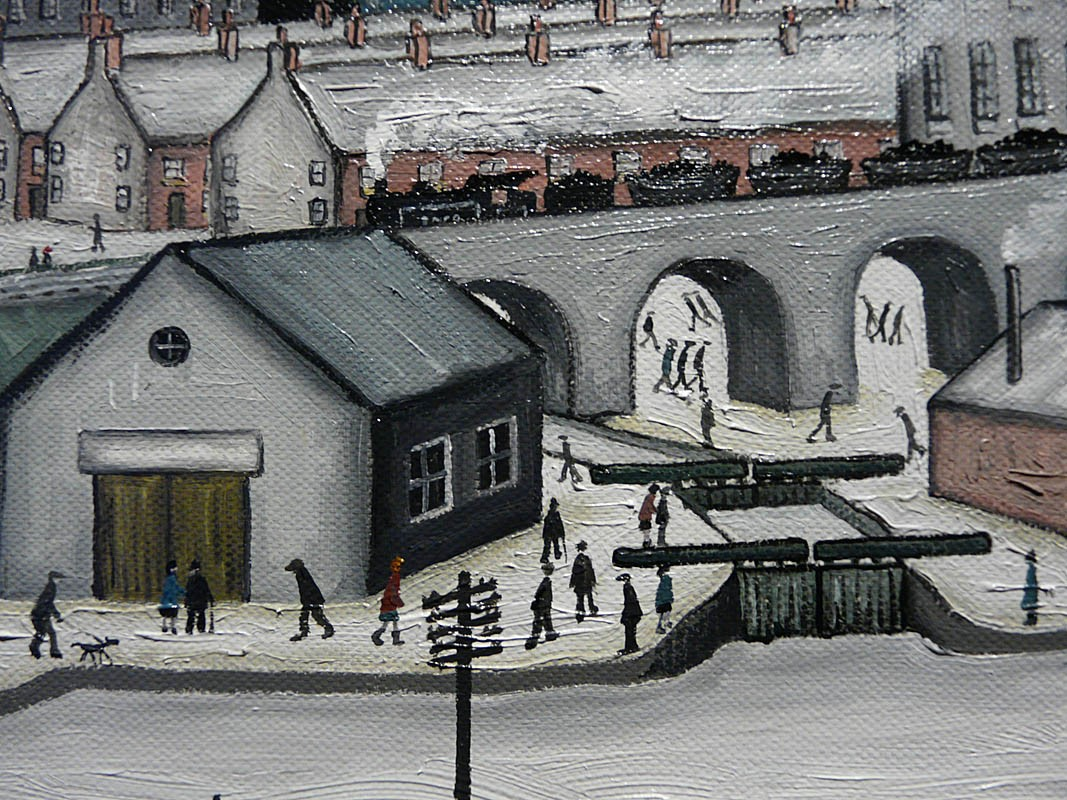 The Canal by John D Wilson, Lowry | Northern | Industrial | Nostalgic | Train | Transport | Water