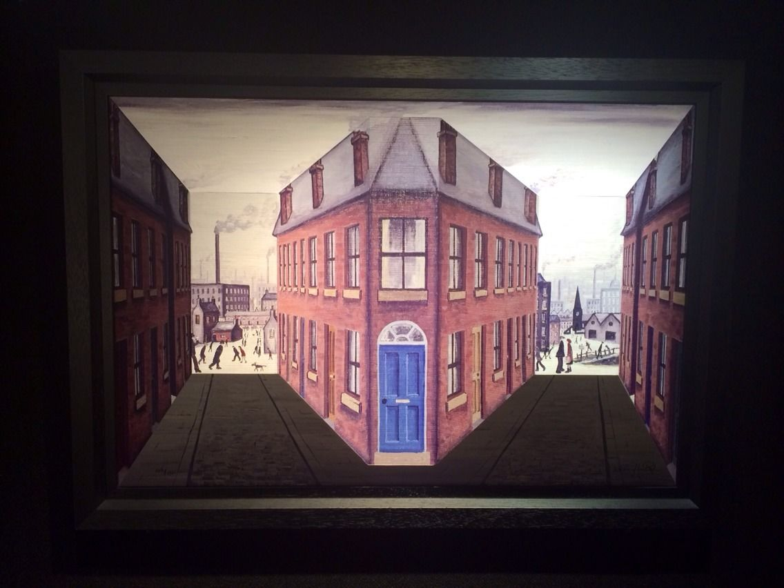Street Scene by John D Wilson, Northern | Lowry | Industrial | 3D | Rare