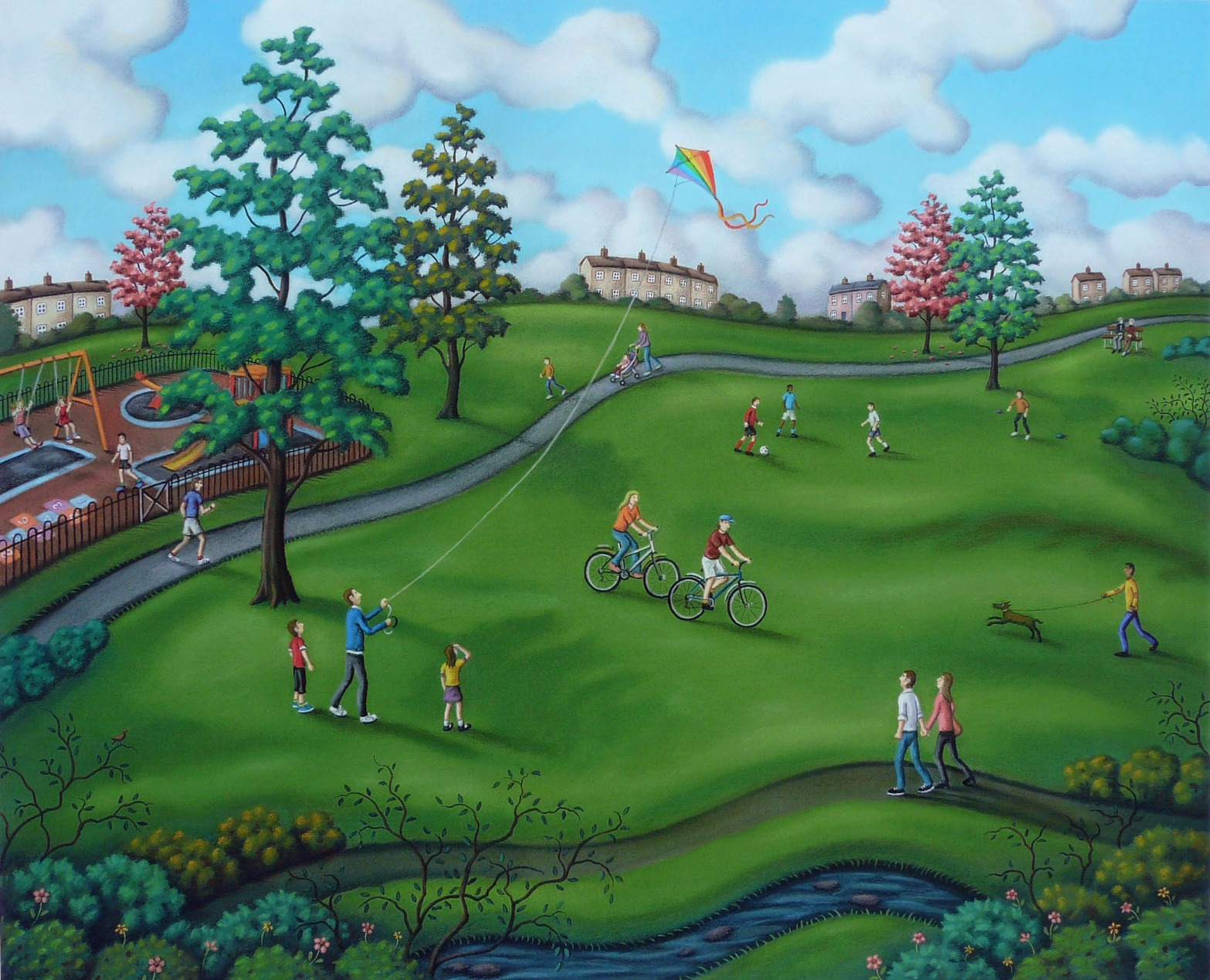 Parklife by Paul Horton, Family | Landscape | Children | Animals | Football | Dog