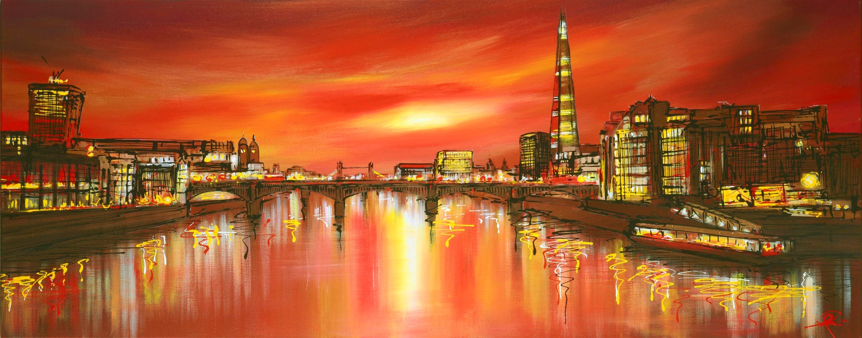 Towering Shard by Paul Kenton, Landscape | London | Abstract