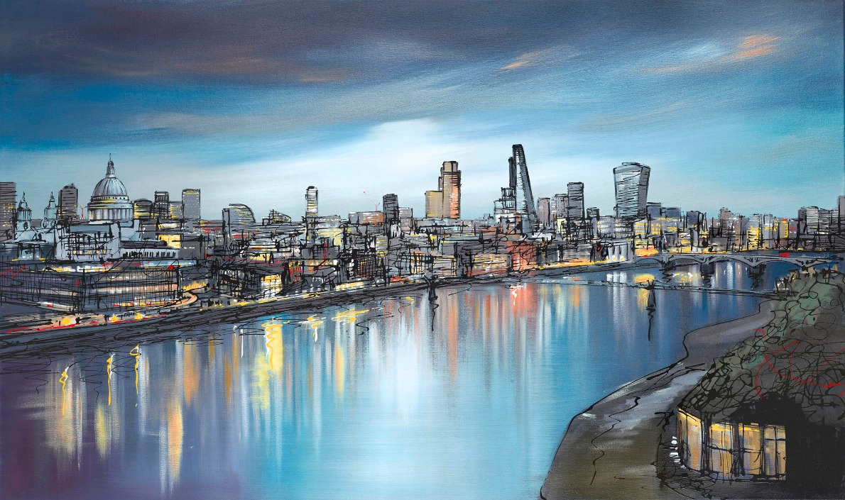 Still Thames by Paul Kenton, London | Landscape | Abstract