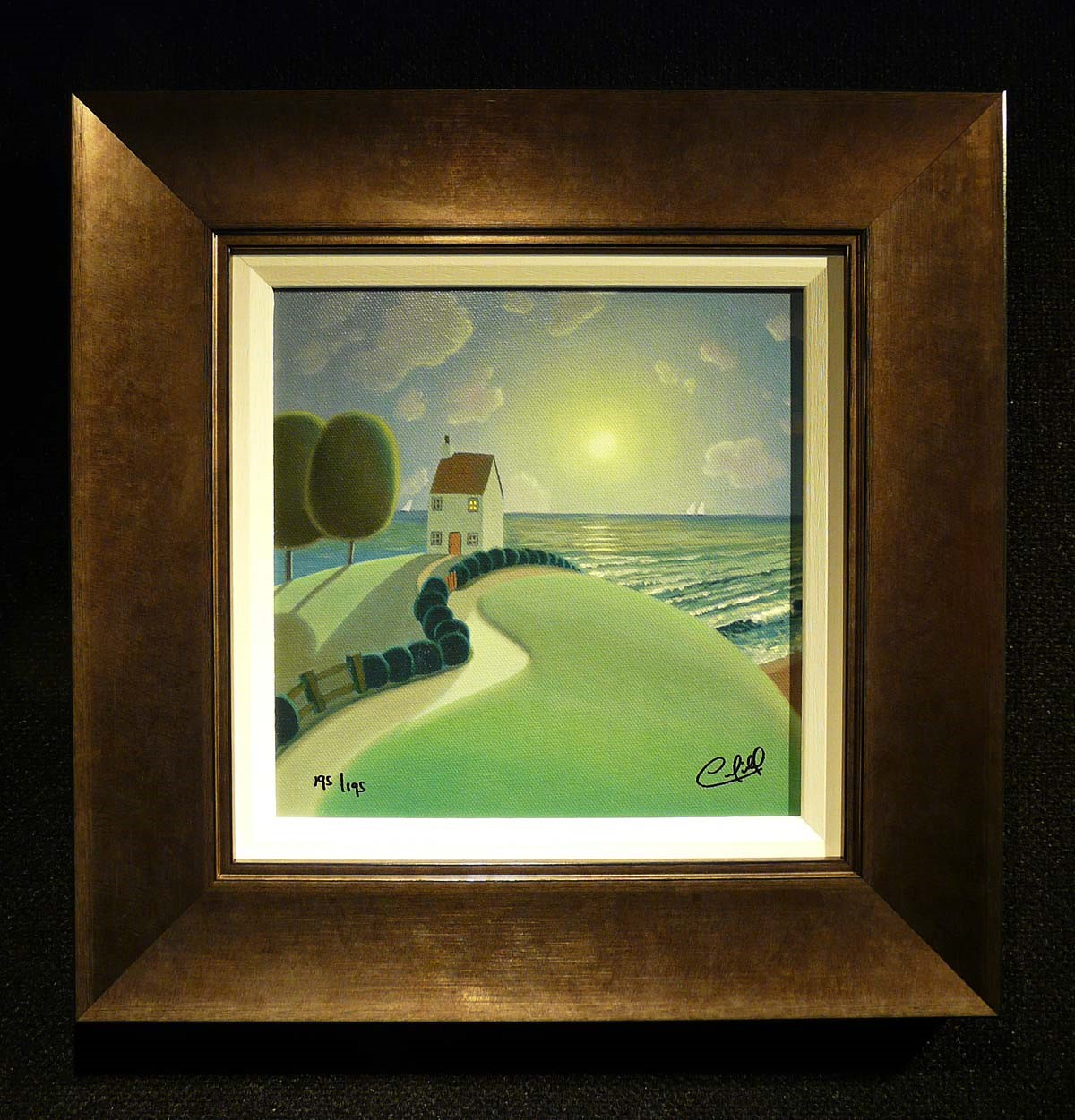 The House by the Sea (195/195) by Paul Corfield, Landscape | Naive | Love | Rare