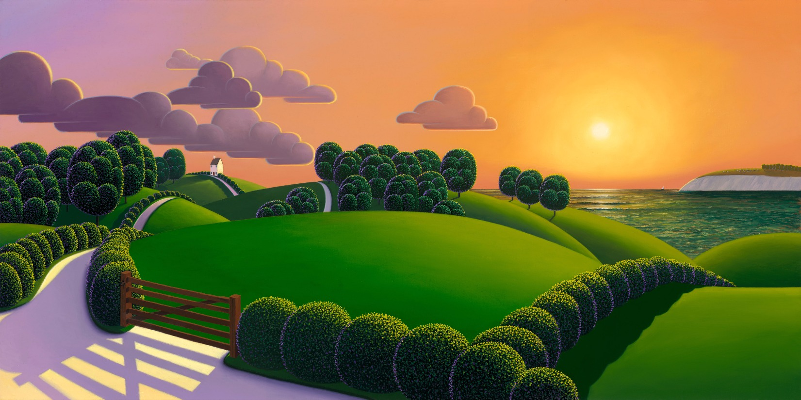Closing of the Day by Paul Corfield, Landscape