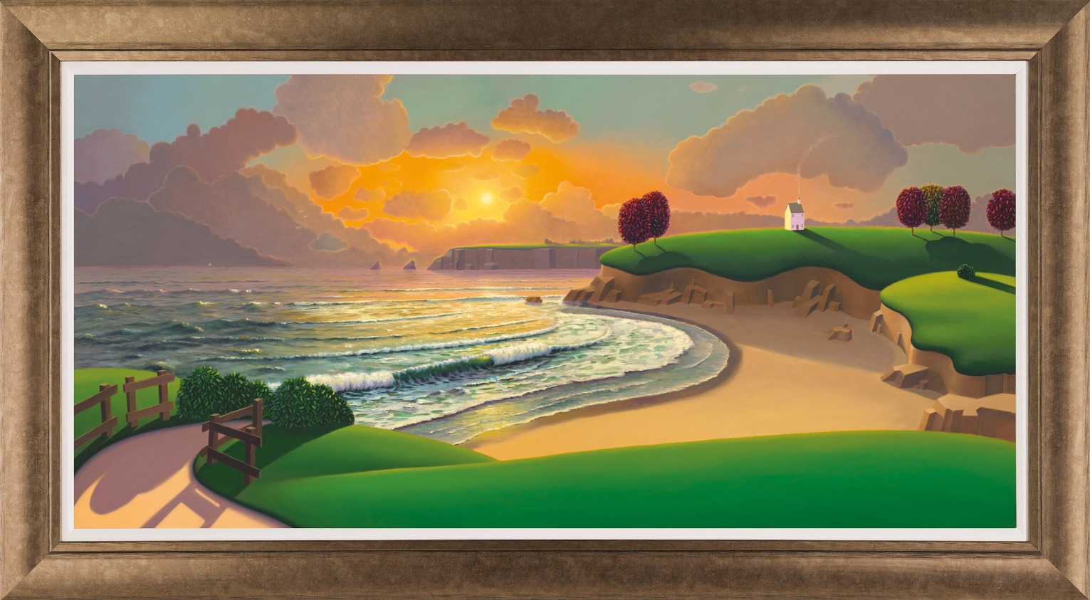 Sunset at Middle Beach by Paul Corfield, Landscape | Abstract