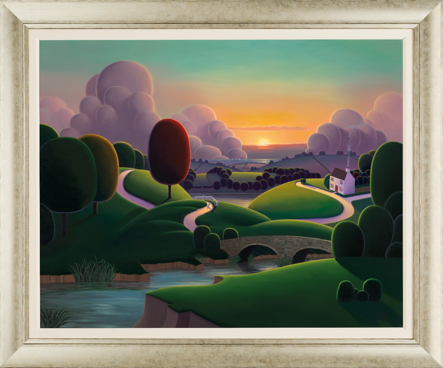 When the River meets the Sea by Paul Corfield, Landscape