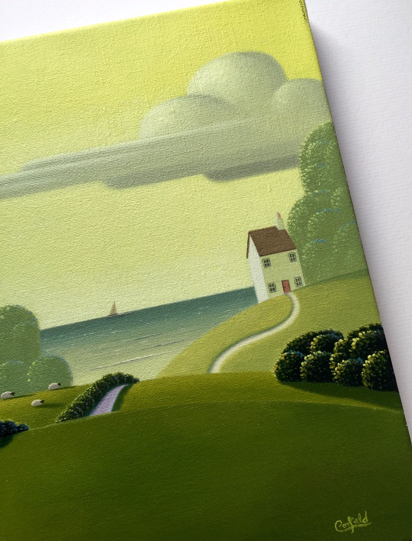 Emerald Mist by Paul Corfield, Landscape | Naive