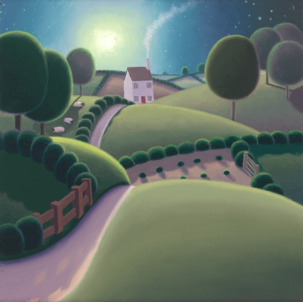 The Way Home by Paul Corfield, Landscape