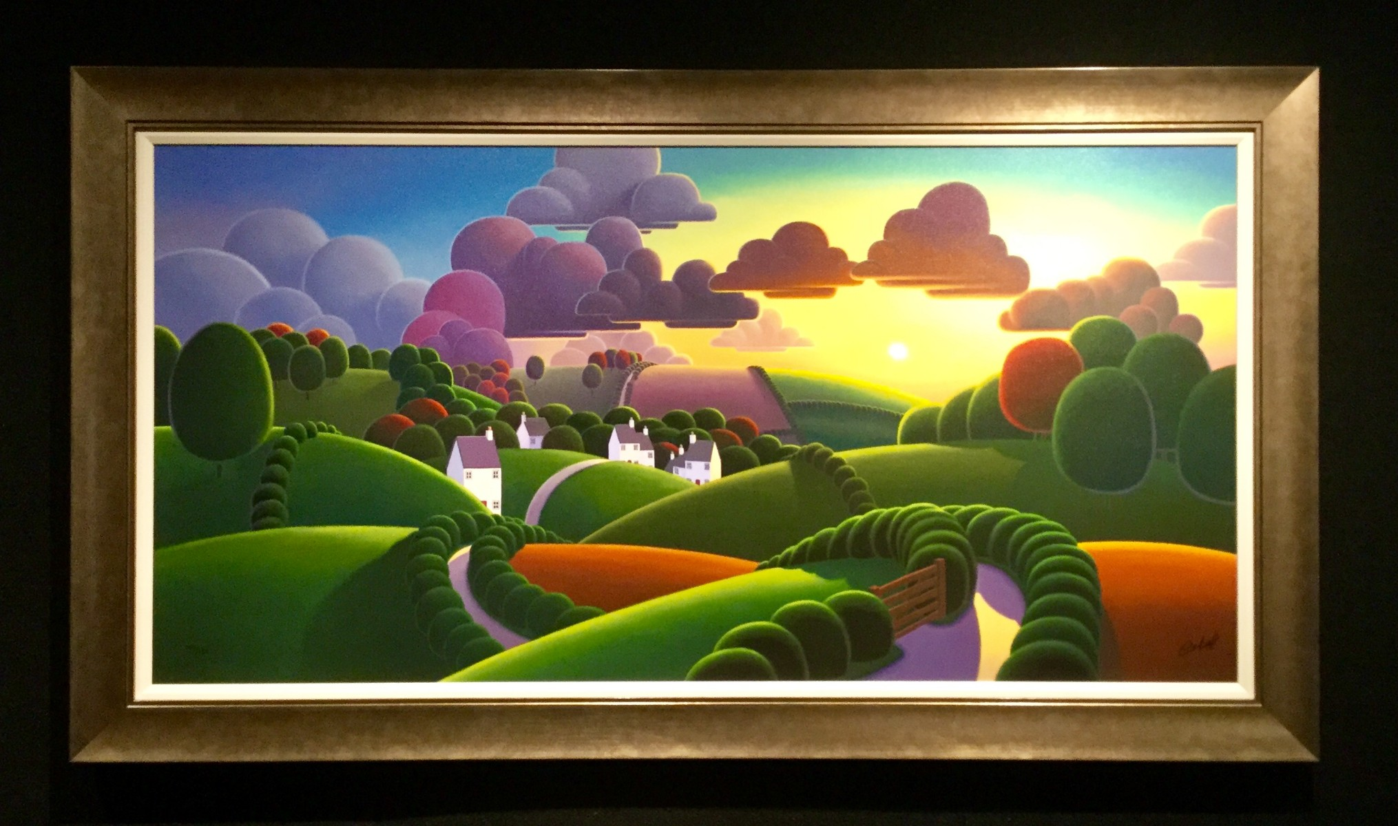 Sunrise over the Village by Paul Corfield, Landscape