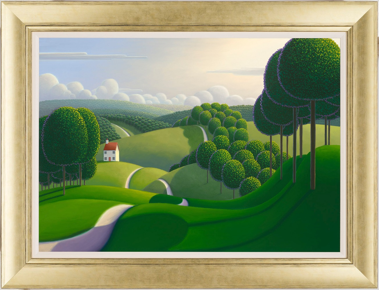 The Tree Lined Pathway by Paul Corfield, Landscape