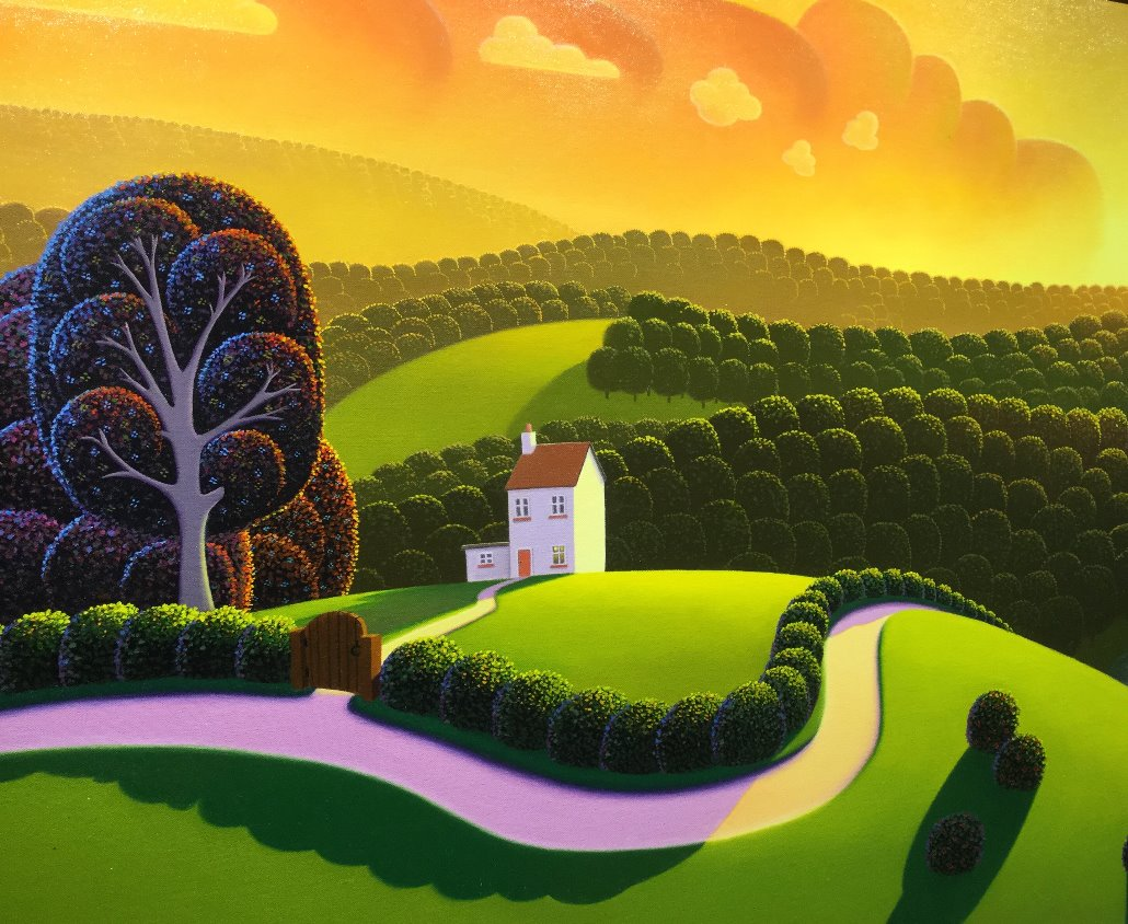 Orange Dawn by Paul Corfield, Abstract | Landscape