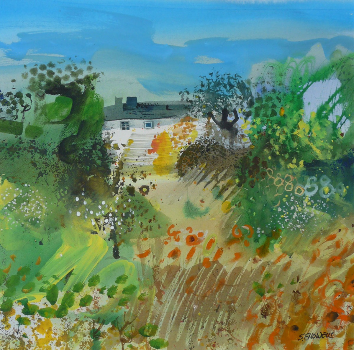 Summer Hideaway by Sue Howells, Abstract | Flowers
