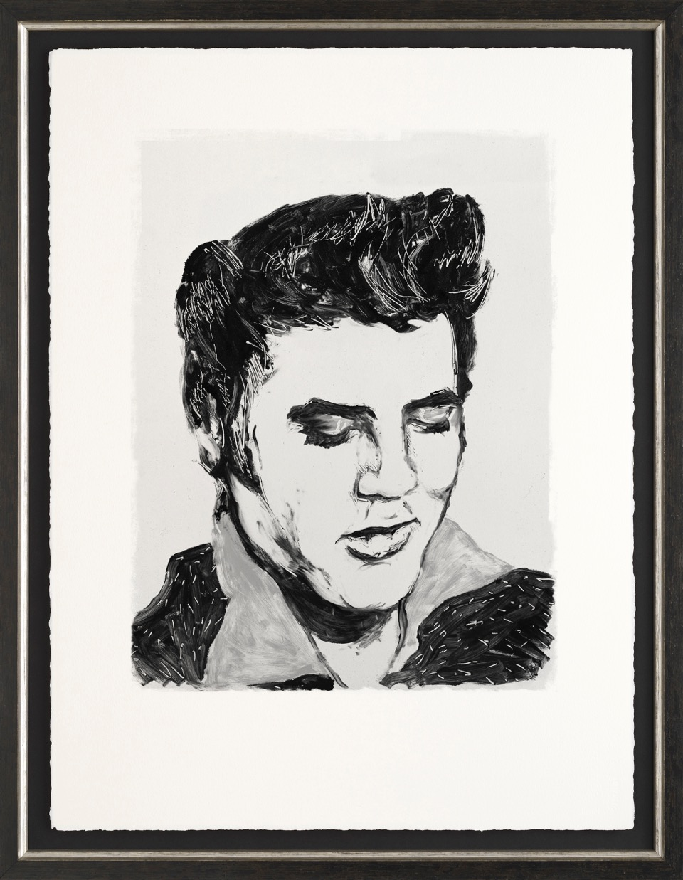 Elvis by Ronnie Wood, Music | Nostalgic | Portrait | Figurative
