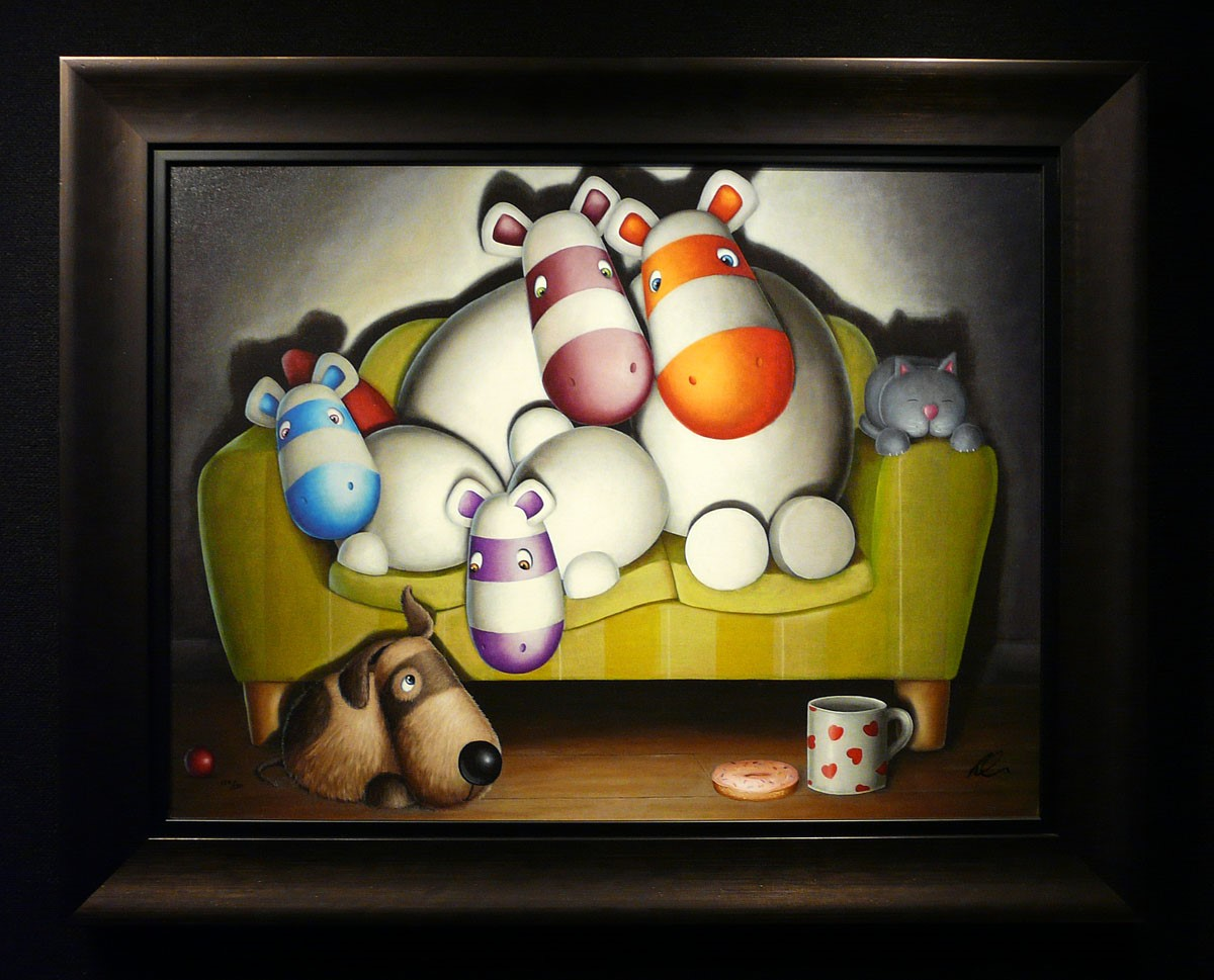 Home Comforts by Peter Smith, Customer Sale | Family | Children | Animals | Couple | Humour