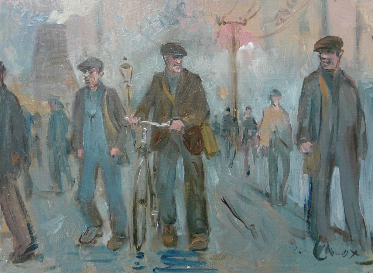 Steelworks Road by Peter Knox, Nostalgic | Northern | Industrial | Bicycle