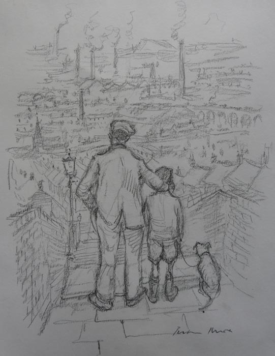 Factory Town by Peter Knox, Children | Nostalgic | Northern | Industrial | Family | Landscape